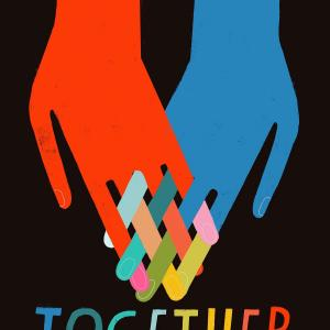 """Graphic that says """"Together"""" with two hands intertwined"""