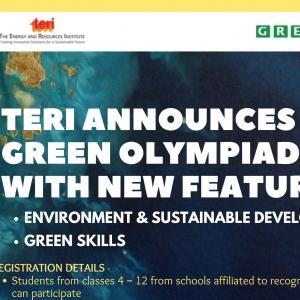 The Energy and Resources Institute green olympiad 2021