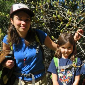 Outdoor Science Instructor with four Montessori students
