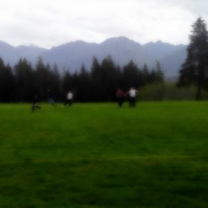 View from the Lake Quinault School football field
