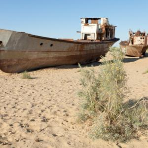 Beached boat image via shutterstock