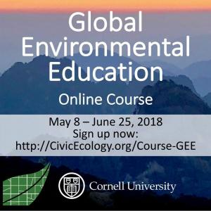 Global EE Course flyer with dates on mountain backdrop