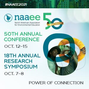 #NAAEE2021 50th Annual Conference Oct 12-15, Research Symposium Oct 7-8, Power of Connection, rings with flower and people images
