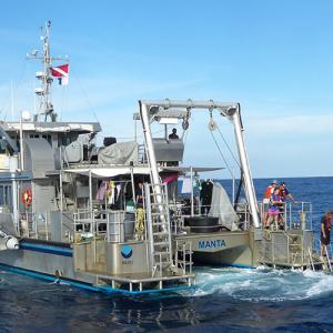 he NOAA Research Vessel Manta will be the platform for this mobile telepresence expedition.   Photo: G.P. Schmahl/NOAA