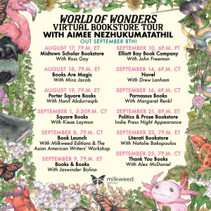 Aimee Nezhukumatathil World of Wonders Bookstore Tour Poster