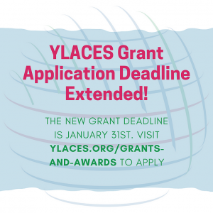 Grant Deadline Coming Up Soon! January 31 on blue background with globe illustration