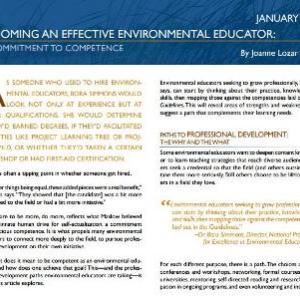 Becoming an Effective Environmental Educator: A Commitment to Competence