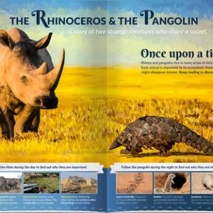 Picture of Panel 1 of The Rhinoceros & the Pangolin