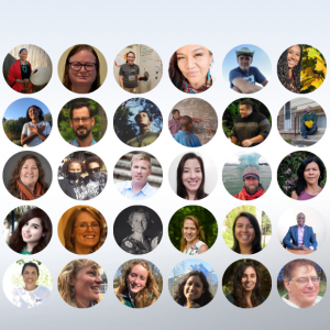 thirty faces of CEE-Change Fellows, Meet the 2021 Fellows, CEE Change and NAAEE logos