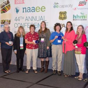 NAAEE Presented 11 Individuals and Organizations With Awards for Excellence in EE at its 2015 Annual Conference in San Diego, CA.