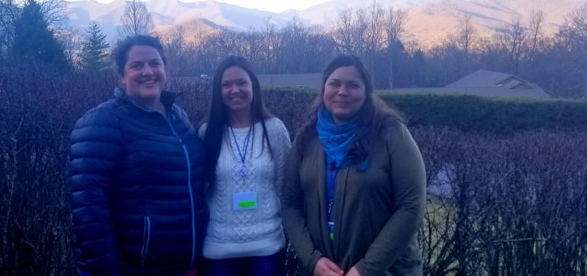 Three representatives from TEEA at the Southeast Environmental Education Alliance workshop.